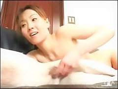 Chinesse girl with dildo and dog
